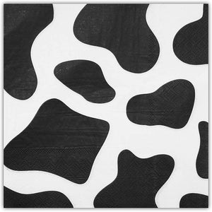 Cow Print Farm Animal Party Paper Napkins (6.5 x 6.5 In, 100