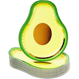 Party Paper Plates, Avocado (7 x 10 In, 48 Pack)