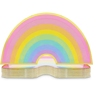 Rainbow Paper Plates for Kids Birthday Party (10 x 5.5 Inches, 48 Pack)