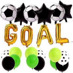 Soccer Ball Party Balloons for Birthday Decorations, Goal (46 Pieces)