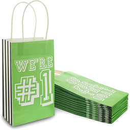 Soccer Party Favor Gift Bags with Handles (5 x 9 x 3 in, 24 Pack)