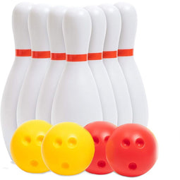 Blue Panda Kids Bowling Game, Includes 10 Pins and 4 Balls (
