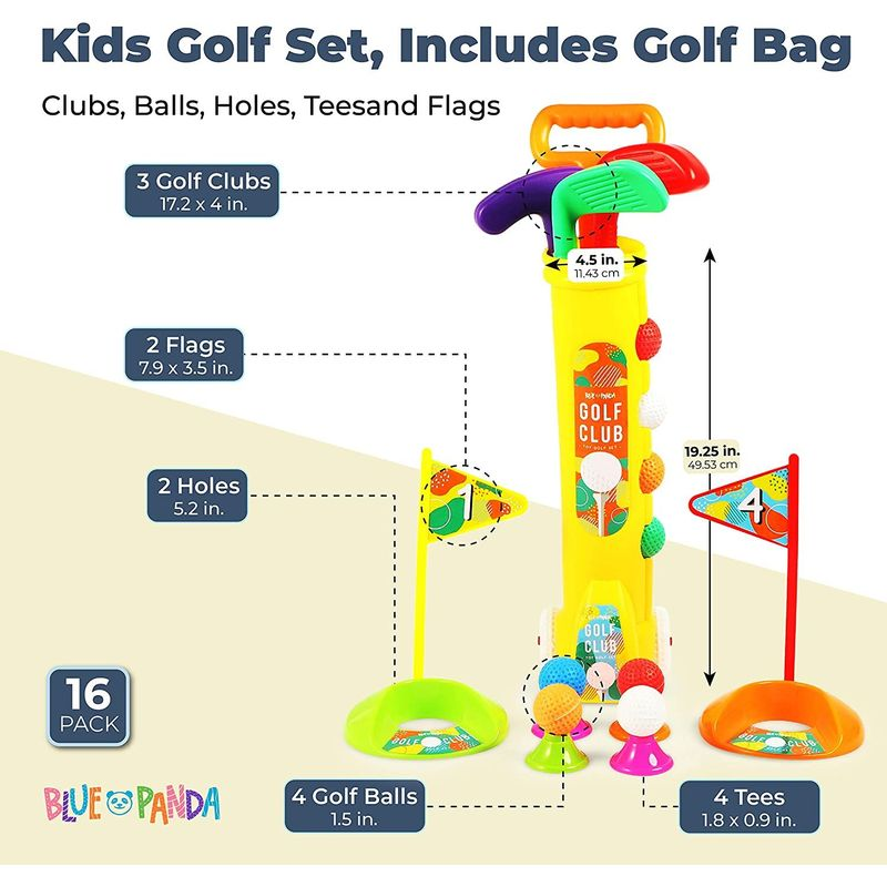 Blue Panda Toy Golf Set (18 Pieces)