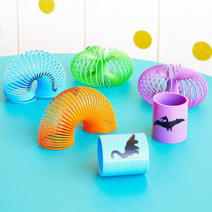 Blue Panda Spring Toys for Dinosaur Birthday Party Favors (1