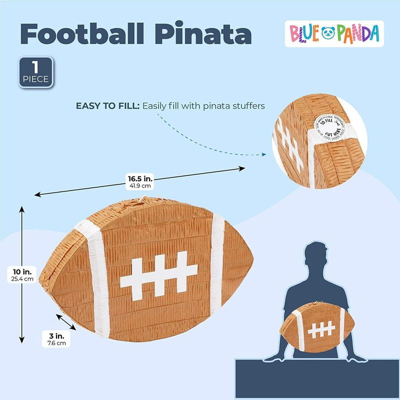 Sports Party Supplies, Football Pinata (16.5 x 10 x 3 In)