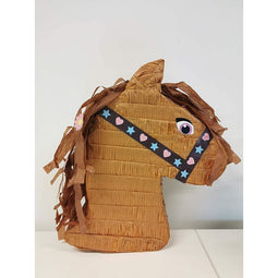 Small Horse Pinata for Farm Animal Birthday Party (12 x 16 x