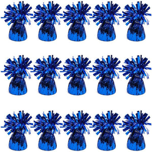 Blue Balloon Weights for Birthday Party Decorations (6 oz, 4.5 In, 15 Pack)