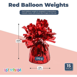 Balloon Weight (Red, 15 Pack)