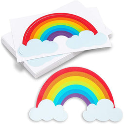 Rainbow Stickers, Colorful Waterproof Vinyl Sticker (3.5 x 2