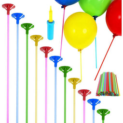 Balloon Sticks with Cups and Air Pump (201 Pieces)