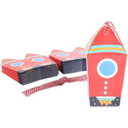 Space Party Favor Boxes, Rocket Ship (24-Pack)