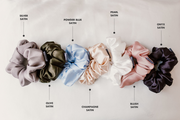 Skinny Powder Blue Satin Supercrush Scrunchie