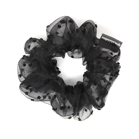 Boudoir Black Scrunchie