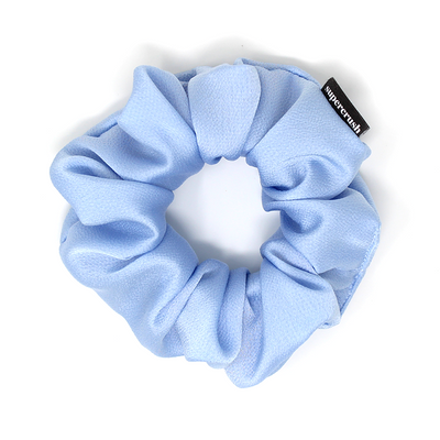 Powder Blue Satin Supercrush Scrunchie