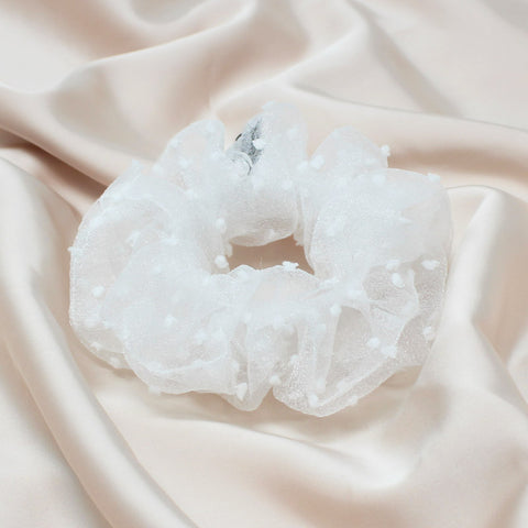 Bridal White Scrunchie