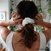 Ivory Lace Scrunchie