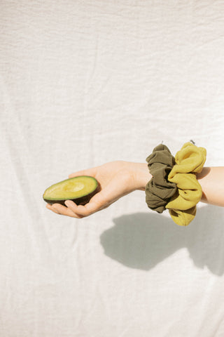 Avocado Suede Supercrush Scrunchie