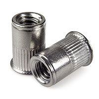 1/4-20 302 SS Rivet Nut, Reduced Head, Second Grip