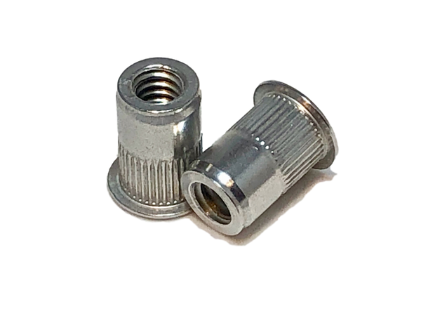 1/4-20 Aluminum Rivet Nut, Standard Head, First Grip, ALA-420-165