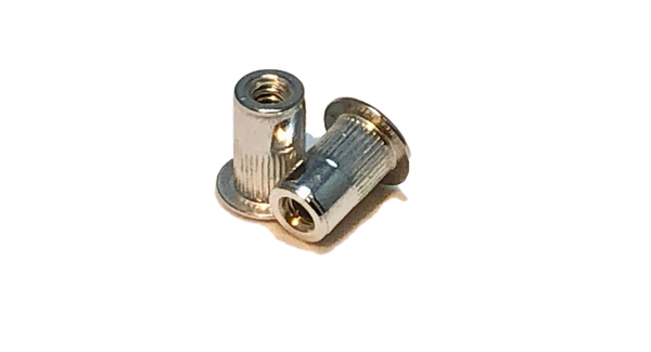 8-32 Aluminum Rivet Nut, Standard Head, First Grip. ALA-832-80.
