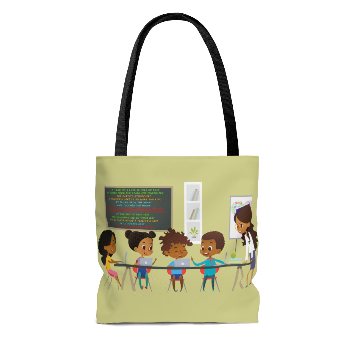 "A Teachers Love ""She Got This"" Tote Bag - Gold"
