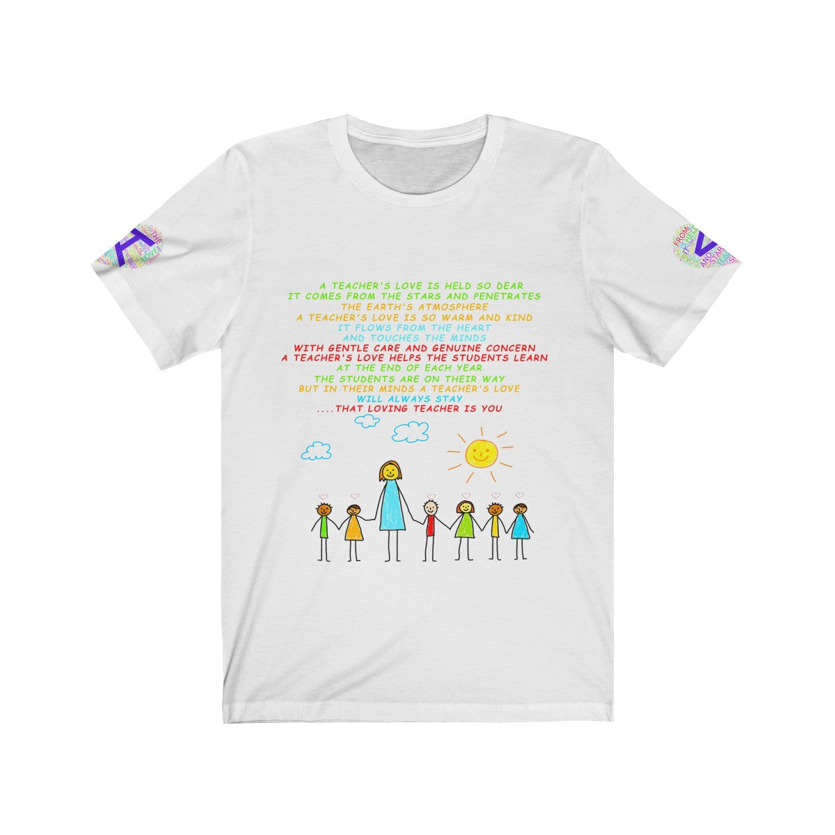 A Teachers Love Preschool/Kindergarten Jersey Short Sleeve Tee