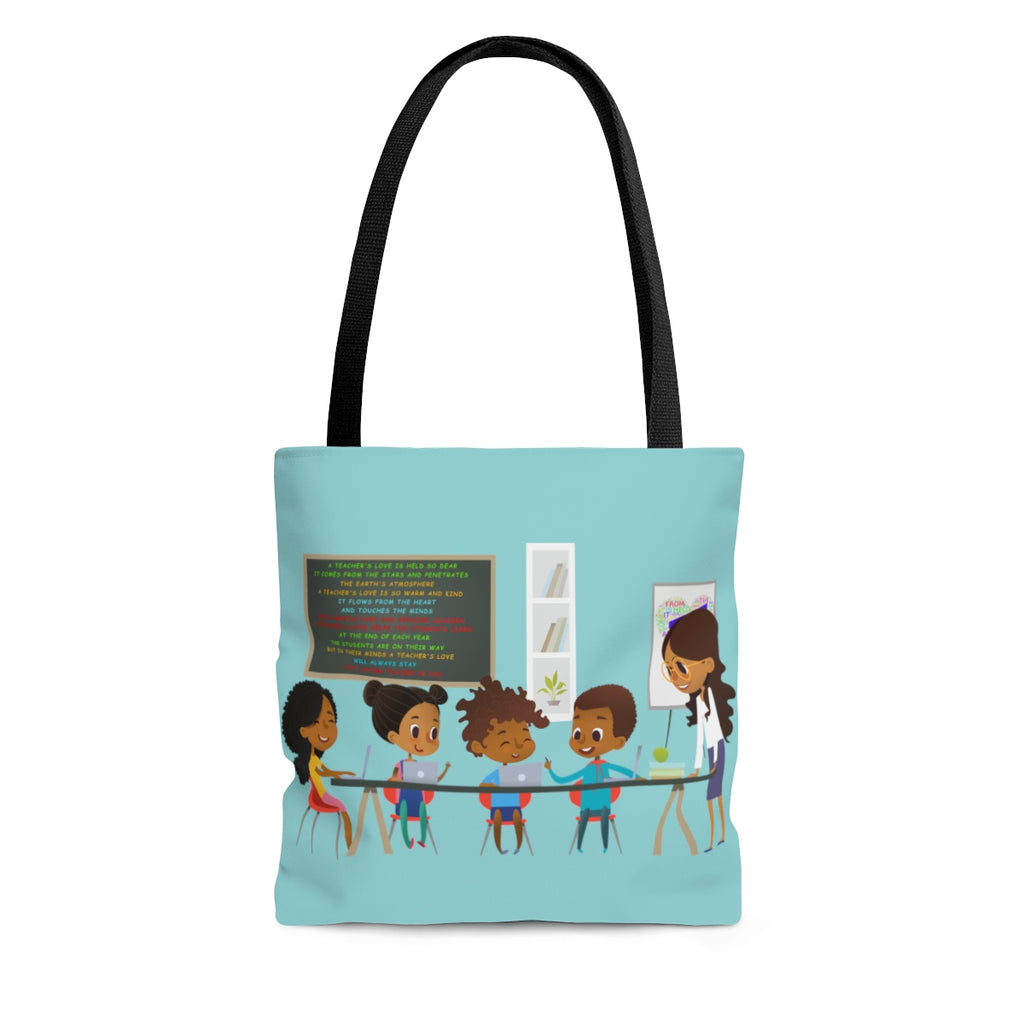 "A Teachers Love ""She Got This"" Tote Bag - Green"