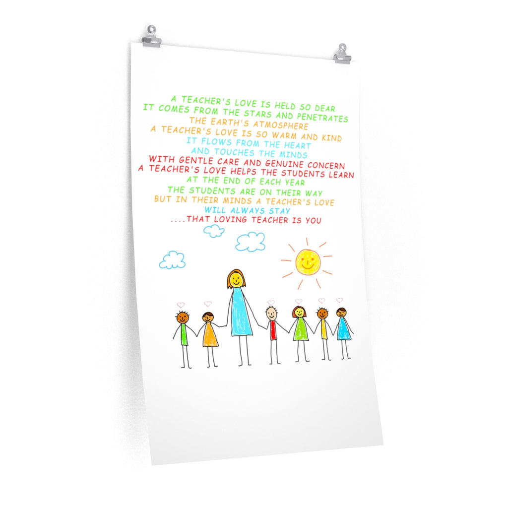 A Teacher's Love -White- Premium Matte vertical posters