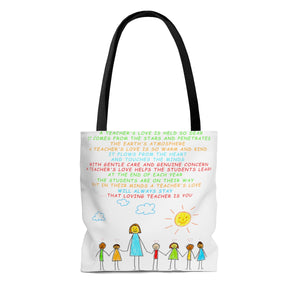A Teachers Love | Kindergarten/Pre-K | Tote Bag - White