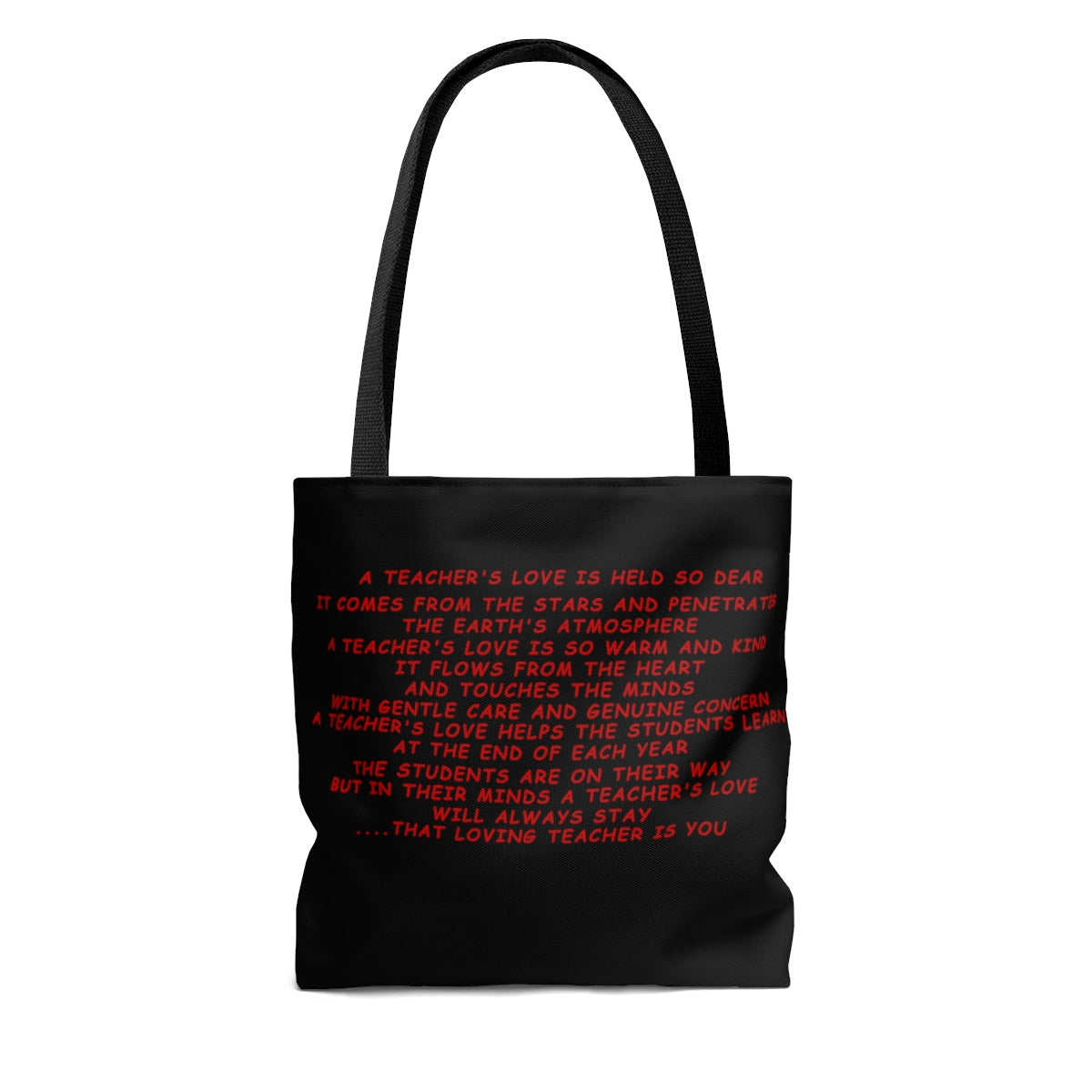 "A ""Super"" Teachers Love Tote Bag - Black"
