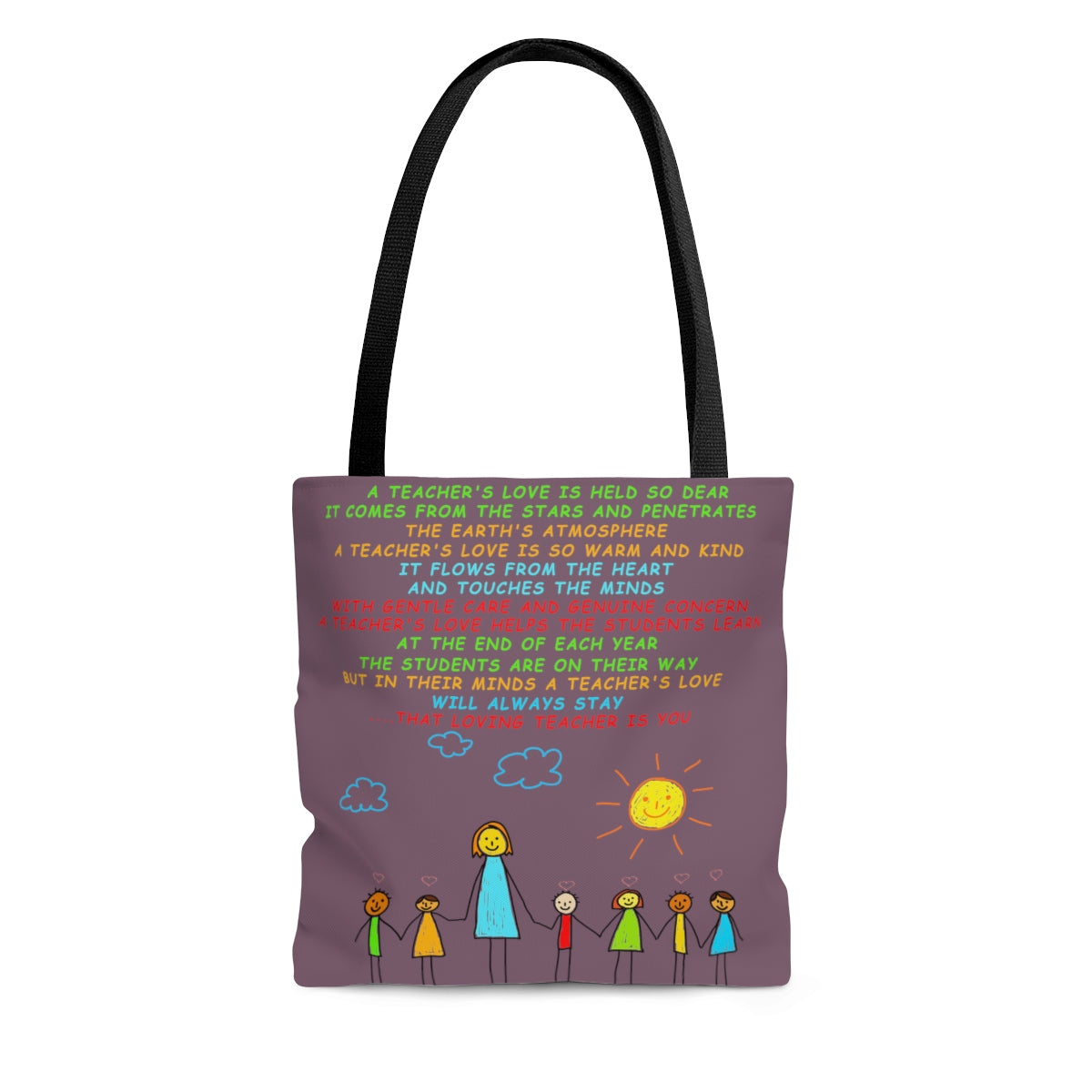 A Teachers Love | Kindergarten/Pre-K | Tote Bag - Grape