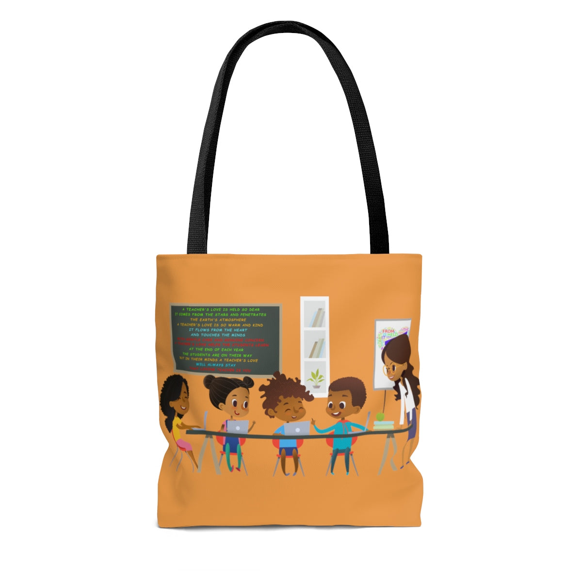 "A Teachers Love ""She Got This"" Tote Bag - Orange"