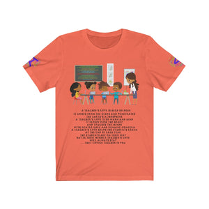 "A Teachers Love ""She Got This"" Tee (Black Text)"