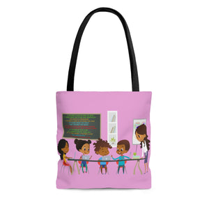 "A Teachers Love ""She Got This"" Tote Bag - Pink"