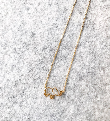 The Dainty Elephant Necklace