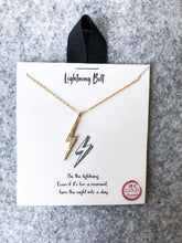 Load image into Gallery viewer, Lightning Bolt Necklace