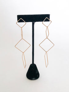 Linked Square Earrings