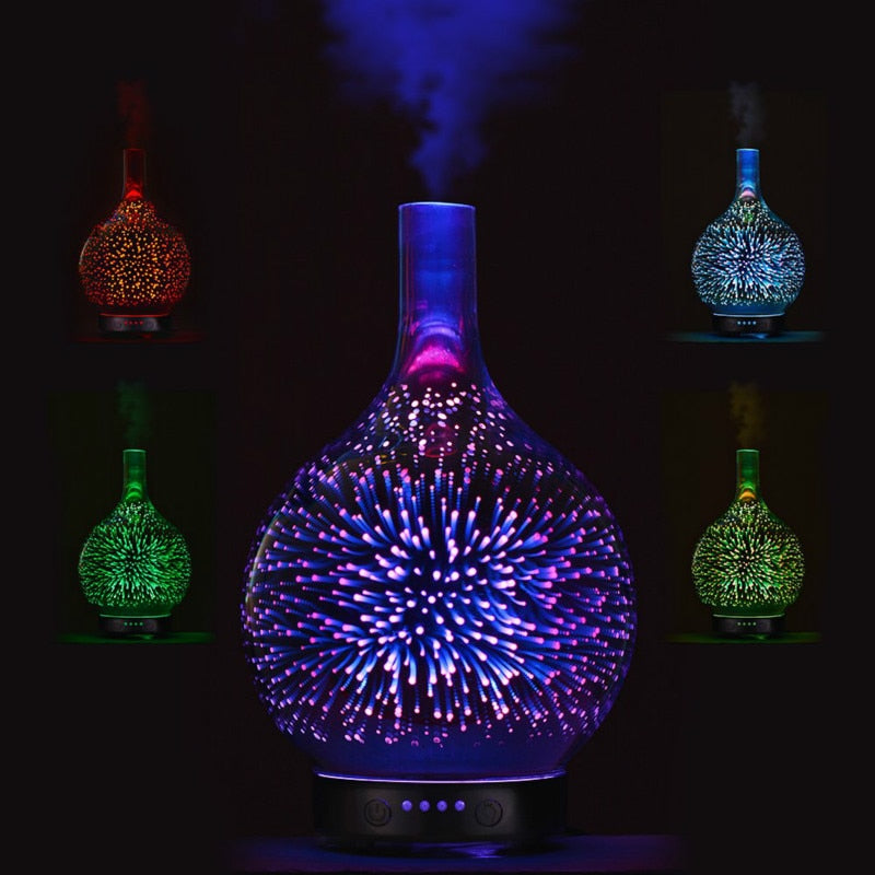 3D Ultrasonic Humidifier - Essential Oil Diffuser