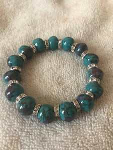 Dark Green Porcelain Ceramic Bracelet