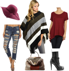 Bodilove Poncho with jeans