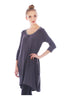 3/4 Sleeve A-Line Tunic Dress - BodiLove | 30% Off First Order  - 15