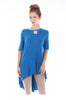 Short Sleeve Basic Hi-Low Tunic Top - BodiLove | 30% Off First Order  - 9