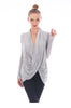 Long Sleeve Criss Cross Drape Front Top - BodiLove | 30% Off First Order - 23