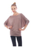3/4 Dolman Sleeve Boat Neck Top - BodiLove | 30% Off First Order  - 22