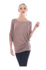 3/4 Dolman Sleeve Boat Neck Top - BodiLove | 30% Off First Order  - 24