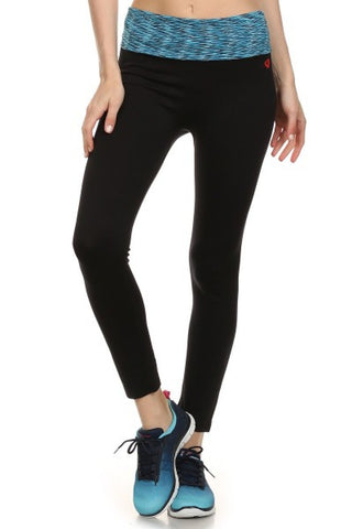Seamless Yoga Leggings W/ Contrast Waistband