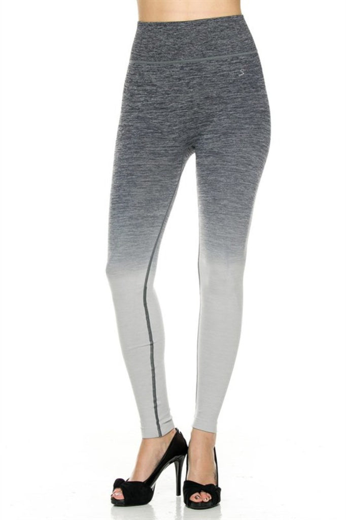 High Waisted Seamless Ombre Yoga Leggings - BodiLove | 30% Off First Order  - 1