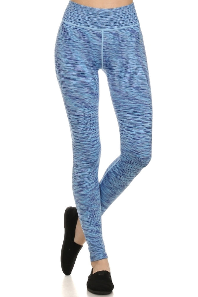 Space Dyed High Waisted Yoga Leggings | 30% Off First Order | Royal Blue