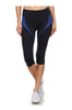 Cropped Yoga Leggings W/ Contrast Color Panels | 30% Off First Order | Black & Royal