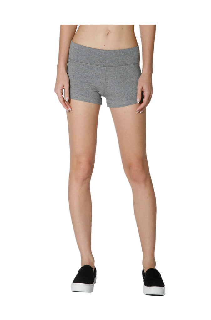 Athletic Yoga Shorts W/ Fold Over Waistband - BodiLove | 30% Off First Order  - 13